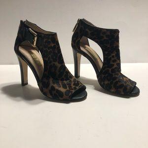 Louise et Cie leopard print peep toe heels